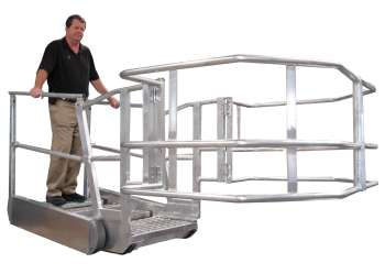 Self-Leveling Safety Stairs